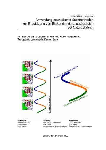 PDF complete version (5 MB) - ETH - LUE - ETH Zürich