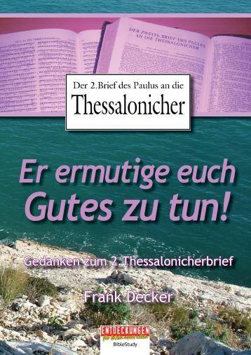 anken zum 2.Thessalonicher - Entdeckungen für (D)ein neues Leben