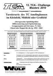 13. TCA-Challenge Ausschreibung - TCA - Challenge Masters 2000 ...