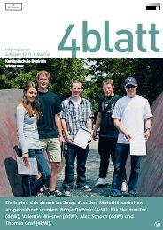 Mit einer Aktie in Bildung investieren. 4blatt - studienaktie.org