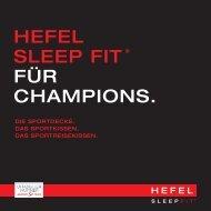 HEFEL Sleep Fit® Produktfolder
