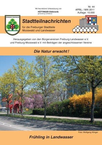 Stadtteilnachrichten Heft 44 - Bürgerverein Freiburg Mooswald ev