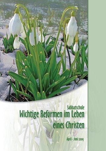 Wichtige Reformen im Leben eines Christen - MHA