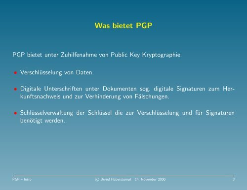 PGP - Intro