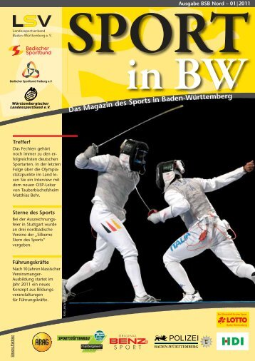 Sport in bw Nr. 01/11 - Badischer Sportbund Nord ev