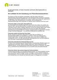 Ein Leitfaden für die Umsetzung von ... - Sucht Schweiz