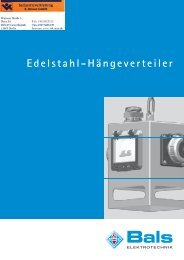 Edelstahl-Hängeverteiler - Industrievertretung R. Krause GmbH