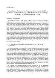 Die politische Dimension des Krieges im Kosovo und in der BR ...