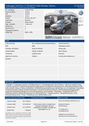 Volkswagen Golf Plus 1.2 TSI Trendl. 2.9 ... - auto-forum-heidenau.de