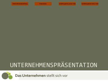 UNTERNEHMENSPRÄSENTATION - Das Unternehmen