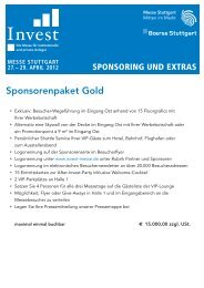 Sponsorenpaket Gold - Messe Stuttgart