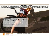 E-Shop-Analyse Fahrrad 2012 - research Tools