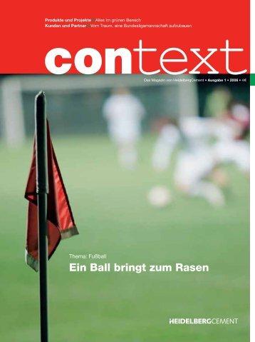 Ein Ball bringt zum Rasen - HeidelbergCement