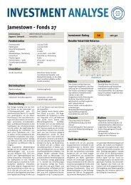 INVESTMENTANALYSE In - Jamestown