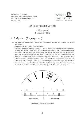Eingebettete Systeme 1. Aufgabe (Regelsystem)