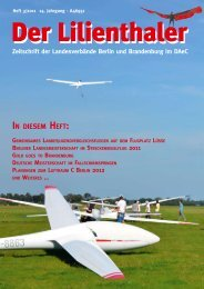 IN DIESEM HEFT: - Lilienthaler Online