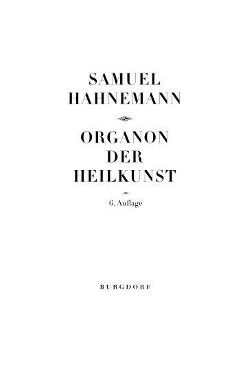 Samuel Hahnemann Q Organon der Heilkunst - Wissensnavigator