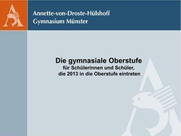Die gymnasiale Oberstufe - Annette Gymnasium