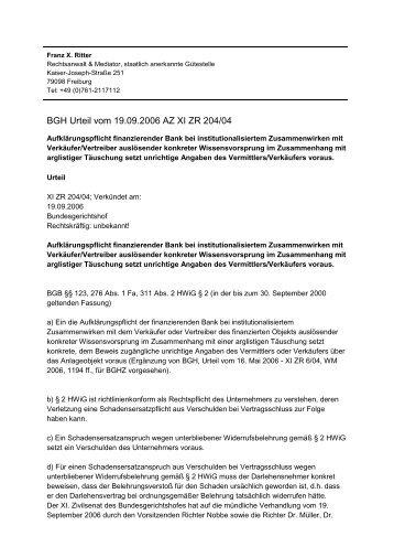Bkr72016 Rechtsprechung