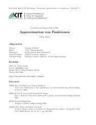 Approximation von Funktionen - Fakultät für Mathematik - KIT