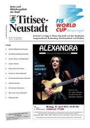 Amtsblatt Nr. 08 vom 18.04.2013 - Titisee-Neustadt