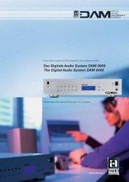 Das Digitale Audio System DAM 6000 The Digital Audio ... - InstaVer