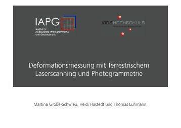 Deformationsmessung mit Terrestrischem Laserscanning ... - IAPG