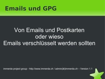 Emails und GPG - beim Immerda Wiki - immerda.ch