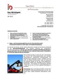 Newsletter Juli 2012 - Ingrid David Steuerberaterin