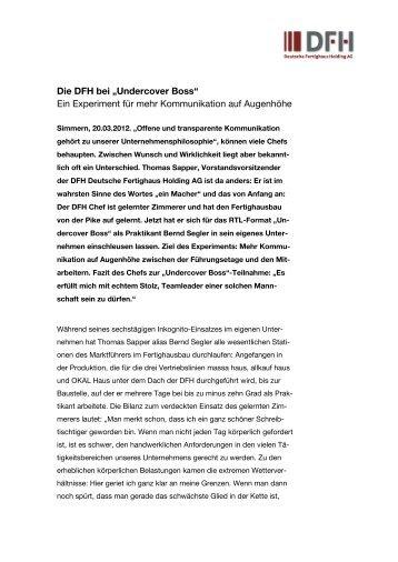 Deutsche Fertighaus Holding AG setzt auf innovative Schulungsplattform