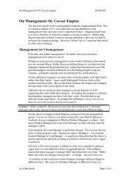 On Management #4: Caveat Emptor - Allan Kelly