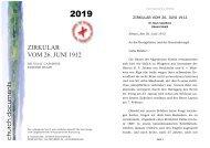 ZIRKULAR VOM 26. JUNI 1912 church documents - Apostolische ...