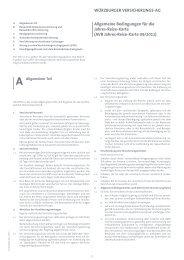 Allgemeine Bedingungen für die Jahres-Reise-Karte ... - Travelsecure