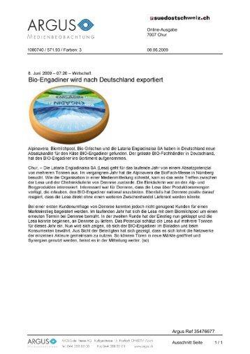 Medienspiegel 9.6.2009 - Alpinavera