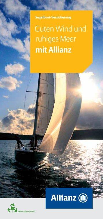 Guten Wind und ruhiges Meer mit Allianz