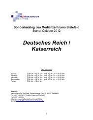 Deutsches Reich / Kaiserreich - Medienzentrum Bielefeld