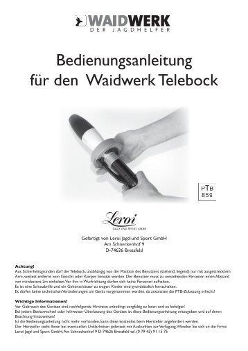 Anleitung - Der Waidwerk Telebock