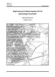 Begründung zum Bebauungsplan LIN 151 ... - Kamp-Lintfort