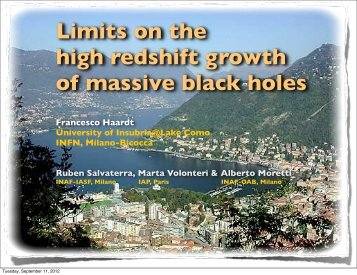 Limits on the high redshift growth of massive black holes  Francesco ...
