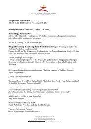 Programm Tage der Zukunft 2013 - Mecca Consulting