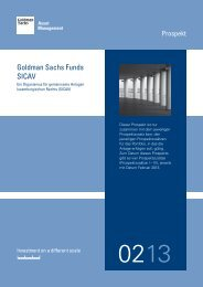 Verkaufsprospekt - Goldman Sachs