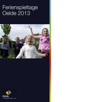 Ferienspieltage Oelde 2013