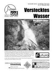 Verstecktes Wasser - SOL - Menschen für Solidarität, Ökologie und ...
