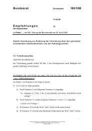 Bundesrat 183/1/08 Empfehlungen - Umwelt-online