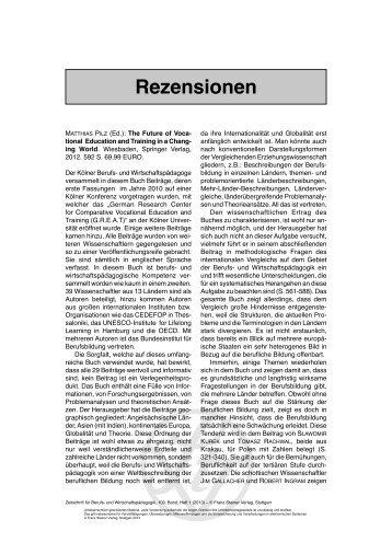 Rezensionen - Franz Steiner Verlag