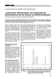 """""""Laktosefreie"""" Milchprodukte - die Problematik der ... - LAZBW"""