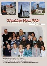 Pfarrblatt Neue Welt - Pfarre Muthmannsdorf