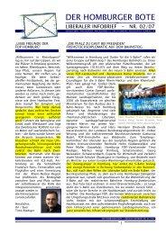 DER HOMBURGER BOTE Nr. 02/2007 (Download ... - FDP Homburg