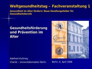 Prävention und Gesundheitsförderung im Alter einschließlich ...