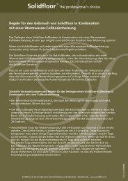 Solidfloor auf Fußbodenheizung - J. Schrank Parkett